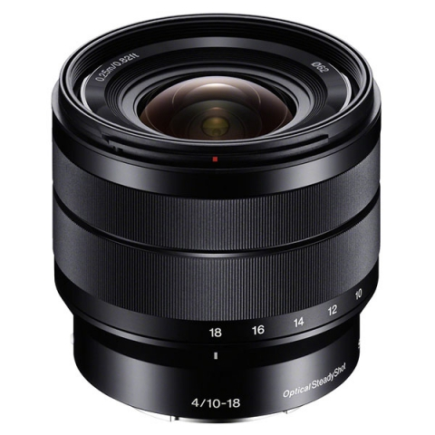עדשת זום רחבה Sony 10-18mm f/4 OSS Alpha